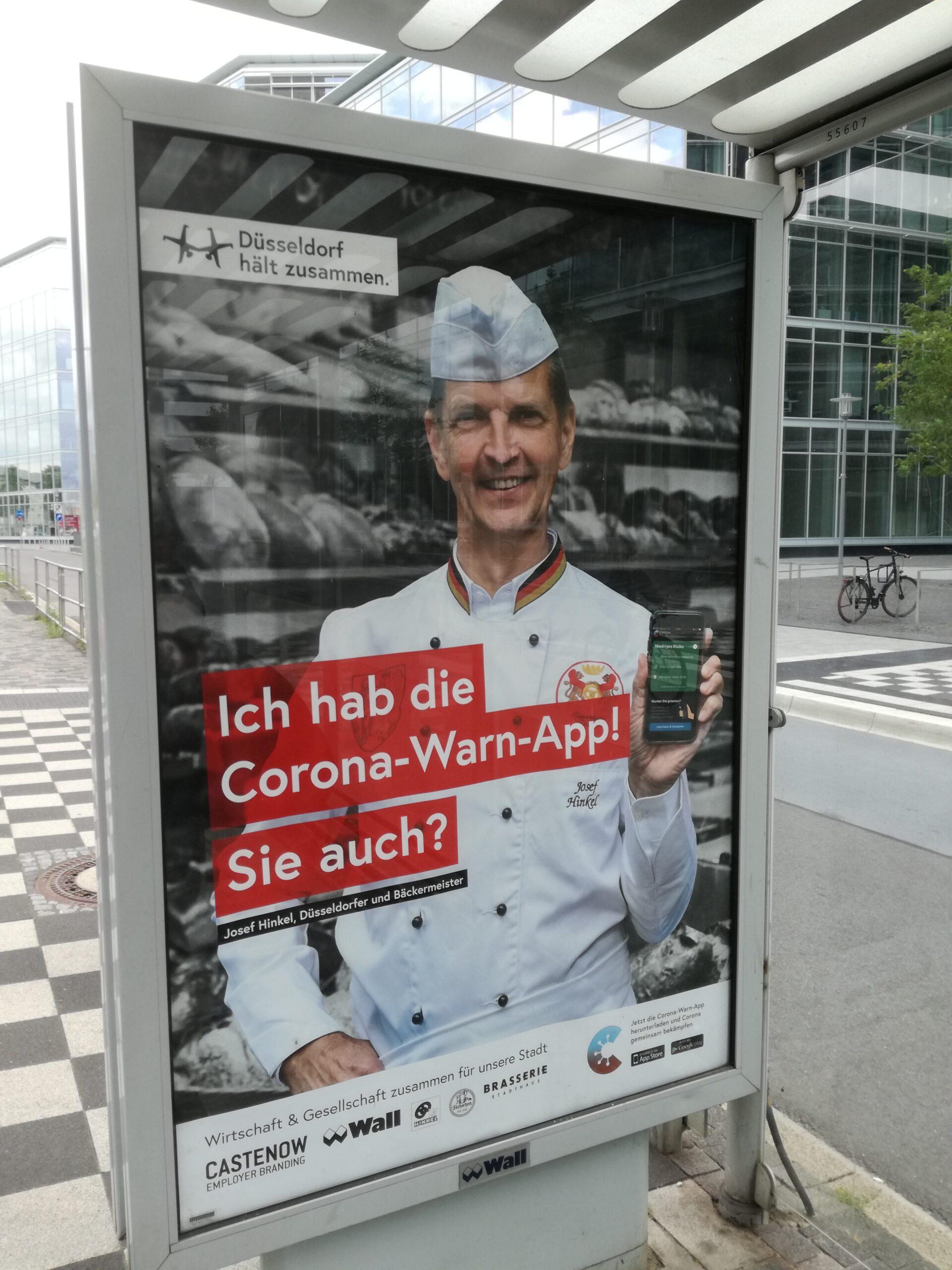Josef Hinkel wirbt für die Corona-App